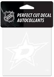 Dallas Stars Perfect Cut Auto Decal White 5715143