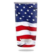 Protective Vinyl Skin Decal For Yeti 20 Oz Rambler Tumbler Wrap Cover Sticker Skins American Flag Decal Only American Flag Decal Flag Decal Yeti 20