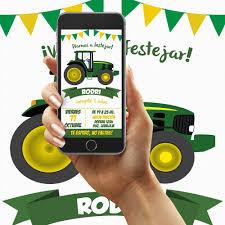 Invitacion Digital Tractor Cumpleanos Whatsapp 160 00 En