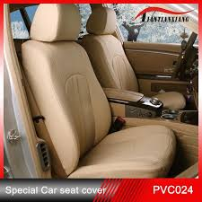 china beige pvc leather seat covers for