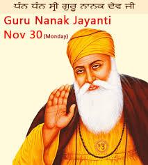 guru nanak jayanti guru nanak birthday date