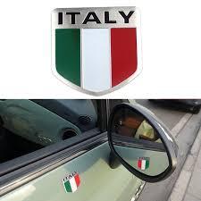 Car Truck Antennas 2pcs Italy Flag Badge Italian Car Truck 3d Aluminum Sticker Decal Universal Fit Auto Parts And Vehicles