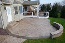 the attractive outdoor concrete patios