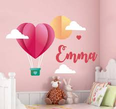 Paper Hot Air Balloon Wall Stickers For Kids Tenstickers