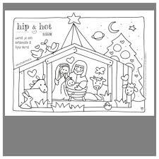 Kleurplaat Kerststal Kerst Kerst Knutselen Kleurplaten