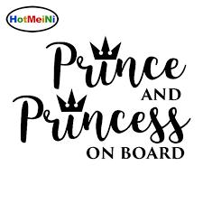 Hotmeini Car Accessories Prince And Princess On Board Vinyl Fun Sticker Car Decal Black Sliver 15cm 10 3cm Car Stickers Aliexpress