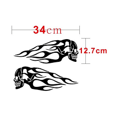 Customizable Flame Sticker Skull Sticker Decals Motorcycle Gas Tank Vinyl Stickers Laptop Car Accessories Decorative Decal Car Stickers Aliexpress