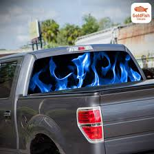 Car Truck Pickup Rear Window Flaming Skull Tint Graphic Decal Sticker 22 X 65 Car Truck Graphics Decals Auto Parts And Vehicles Tamerindsa Com Ar