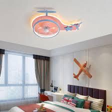 China Smart Bluetooth Audio Children Room Aircraft Light Ceiling Fan Light For Kids China Smart Ceiling Fan Light Fan Ceiling Light