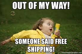 Little girl running away, free shipping