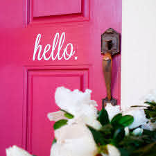 Hello Wall Decal Hello Sticker For Front Door