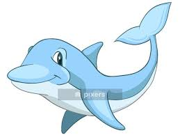 Cartoon Character Dolphin Wall Decal Pixers We Live To Change