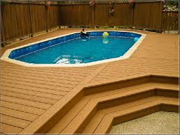 Above Ground Pool Deck With Privacy Fence Deck Ideas Building A Deck Above Ground Pool Decks Above Ground Pool