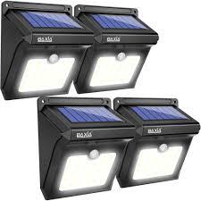 4 Pack 28 Led Pir Motion Sensor Lights Solar Powered Outdoor Light Porch Garden Baxiatechnology