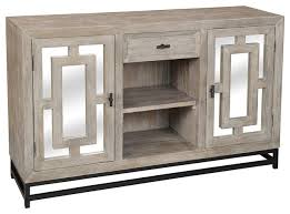marabella 2 door mirrored wood media