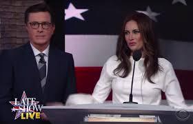 Stephen Colbert gives fake Melania ...