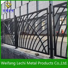 China Modern Design Ornamental And Security Powder Coated Wrought Iron Protection Fence For Garden House Swimming Pool China Fence Steel Fence