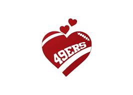 Sf San Francisco 49ers Football Heart Vinyl Car Decal Etsy