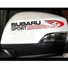 2x 15cm 6cm Subaru Sport Subaru World Rally Team Car Mirror Stickers Car Decal Wish
