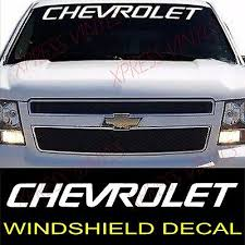 Car Truck Graphics Decals Window Truck 1 Pair Chevrolet Script Emblem Vinyl Decal Sticker Car Auto Parts And Vehicles