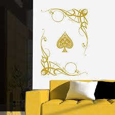 Ace Of Spades Wall Sticker Playing Card Wall Decal Art Muebles Hogar Hogar Muebles