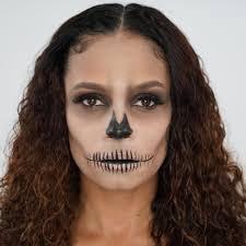 simple skeleton makeup step by step