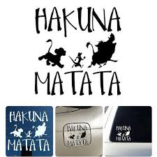 13 8cmx13 3cm Hakuna Matata Lion King Simba Car Styling Vinyl Car Sticker Wall Decal Car Decal For Vehicle Body Sticker Car Stickers Aliexpress