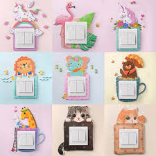 Cover Children Room Decor Wall Silicone On Off Switch Stickers Cute Switch Outlet Wall Sticker Decor Wall Stickers Aliexpress
