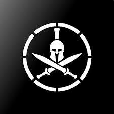 Spartan Helmet Shield Vinyl Decal Car Window Laptop L Sticker Kandy Vinyl Shop