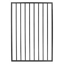 Us Door Fence Pro Series 3 25 Ft X 4 8 Ft Black Steel Fence Gate G2ghds39x58us The Home Depot