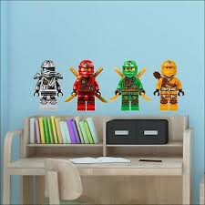 4 Ninjago Lego Movie Characters Colour Wall Sticker Vinyl Transfer Decal 30cm H Ebay