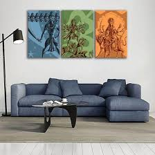 Religious Indian Hindu Gods And Goddesses Canvas Wall Art Canvasx Net