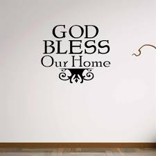 bible wall stickers home decor praise worship god bless our home