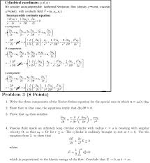 navier stokes equation for rotating