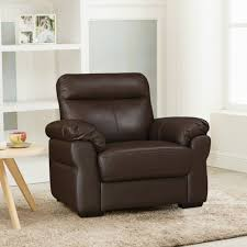 single seater sofa in brown colour