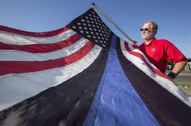 Blue Line Flag Stirs Controversy In Sonoma