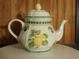 french garden fleurence teapot tea pot