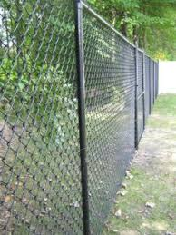 7 Ft Black Chain Link Fence Black Chain Link Fence Chain Link Fence Installation Backyard Fences
