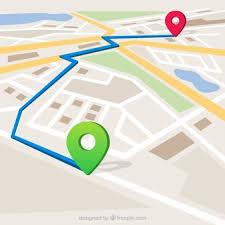 Carte Avec Itinéraire Marqué | Vecteur Gratuite