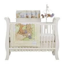ivory classic pooh crib set with