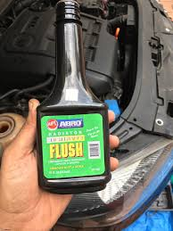 diy engine coolant flush change