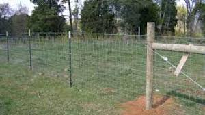 4ft Hog Wire Farm Fence With 1 Strand Of Barbed Wire