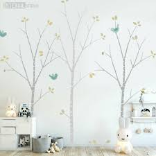 birch tree stencil pack inc leaves