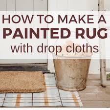 diy drop cloth rug for every season