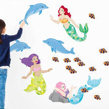 Mermaid Wall Decal Set By Chromantics