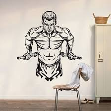 Workout Gym Fitness Wall Decal Art Decor Sticker Vinyl Gym Wall Decal Gym Wall Sticker Gym Stickers Gym Decal Gym Decor Fitness Decal Wish