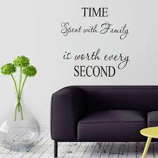 1 Pc Time Spent With Family Is Worth Every Second Wall Decals Art Wall Stickers For Sale Online