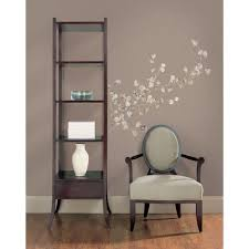 Roommates Silver Dollar Branch Peel And Stick Giant 28 Piece Wall Decal Rmk1677gm The Home Depot