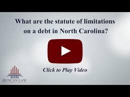limitations for debts in north carolina