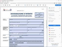 Mod. Dichiarazione di intento editabile PDF gratis [Nuova versione ...